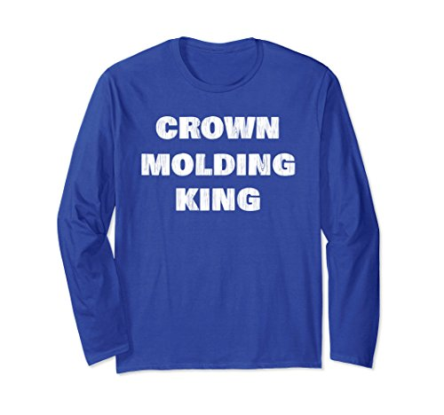 Distressed Molding (Unisex Crown Molding King - Wood Grain Distressed XL: Royal Blue)