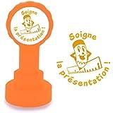 Soigne la présentation - Tampon français auto-encreur pour enseignants. Encre Orange