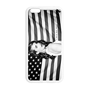 Beautiful Custom Designed Cover Case For Iphone 6 4.7 Inch TPU With Cute Lana Del Rey Phone Case Cover (Laser Technology)