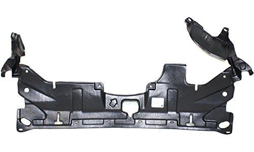 Honda Accord Splash (Evan-Fischer EVA20172040896 New Direct Fit Engine Splash Shield Plastic Engine Under Cover Replaces Partslink# HO1228117 Front for Honda Accord)