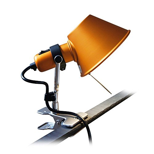 Tolomeo Mini Wall (MODO CL-01 Orange Color Clip On Task Aluminum Light)
