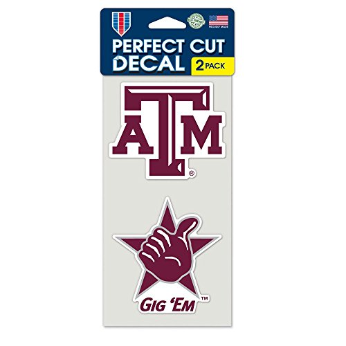 NCAA Texas A&M University Perfect Cut Decal (Set of 2), 4