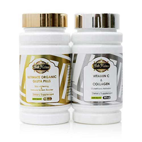 Ultimate Organic Pills + Vitamin C & Collagen (The Most Whitening Set 3000mg)