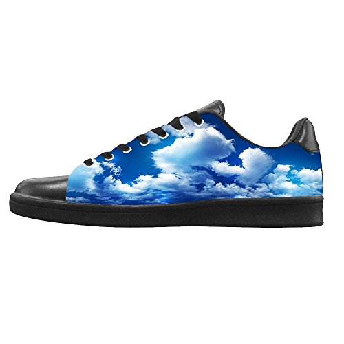 Dalliy Blaue Wolken Mens Canvas shoes Schuhe Lace-up High-top Sneakers Segeltuchschuhe Leinwand-Schuh-Turnschuhe D