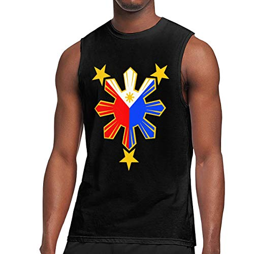 of The Philippines Sleeveless Body Shirt Essential Athletic T-Shirts Black ()