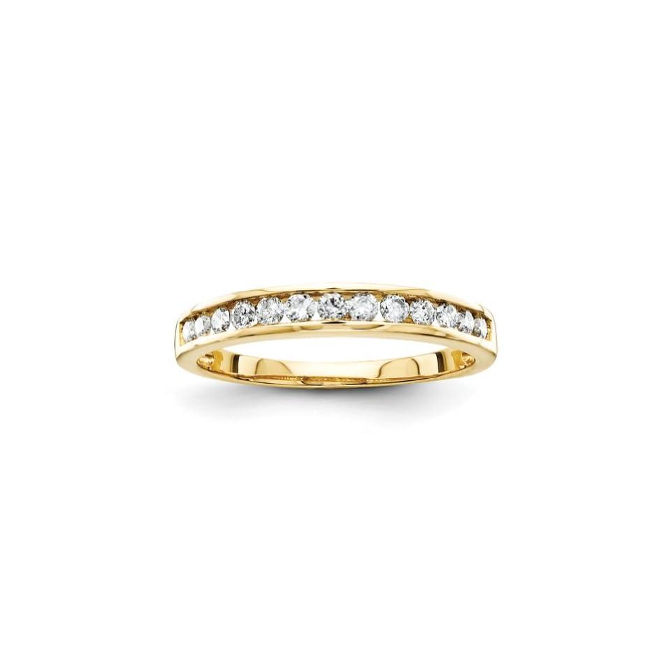14k Yellow Gold Diamond Bridal Band Ring Jewelry