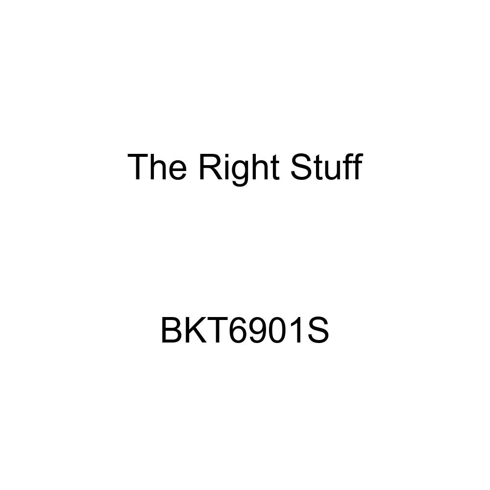 The Right Stuff BKT6901S Stainless Standard Drum Front Brake Line Kit 4 Piece