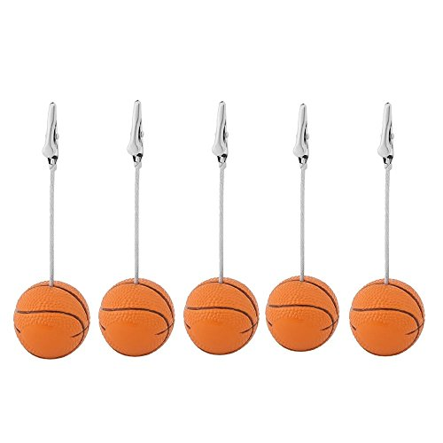 Basketball Ball Shaped Table Number Holder Name Place Card Holder Memo Clip Holder Stand Note Holder Pictures Card Paper Menu Clip by senover