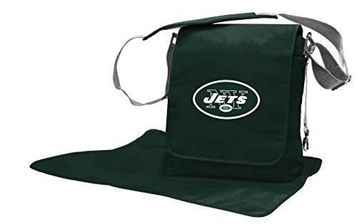 Wild Sports NFL New York Jets Messenger Diaper Bag, 13.25 x 12.25 x 5.75-Inch, Green by Wild Sports
