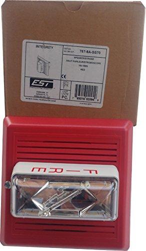 Edwards 757-8A-SS70 Enhanced Integrity Fire Alarm Speaker Strobe Red 70V