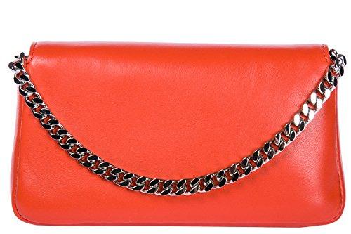 Fendi borsa donna a spalla shopping in pelle nuova micro baguette rosso