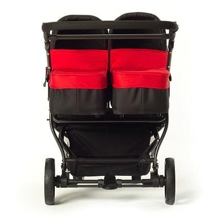 Baby Monsters Silla gemelar EASY TWIN 2.0 + 2 capazos color rojo: Amazon.es: Bebé