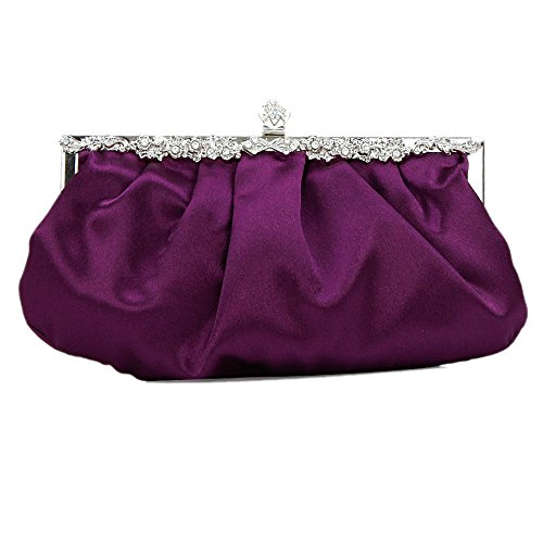 Purple A Frizione Borsetta Borsa Pieghe Della Raso Da Womens Bailiang Seta Sera Promenade Sposa Di In wqX1ngZ