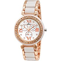 Swisstyle Analogue White Dial Womens Watch-Ss-Lr703-Wht-Ch