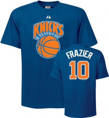 free shipping f2be7 2a99e Amazon.com : Walt Frazier Blue Majestic Throwback Player ...