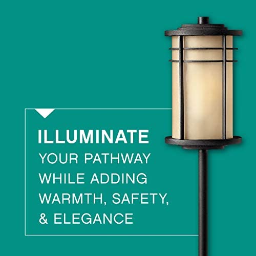 Hinkley Ledgewood Path Light Add Security to Outdoor Walkways with Ultra-Durable Path Lighting 12-Volt, Museum Bronze Finish, 18w T-5 Wedge Included, 1516MR
