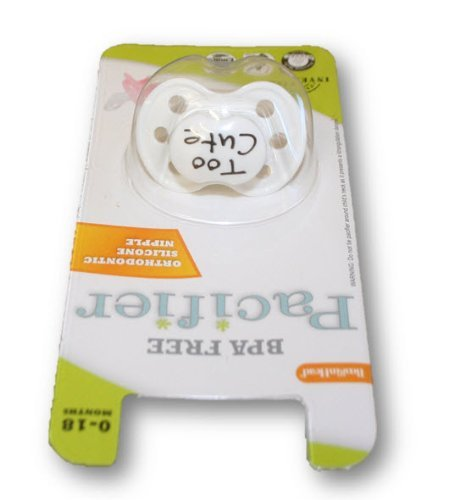 BooginHead Pacifier Too Cute White