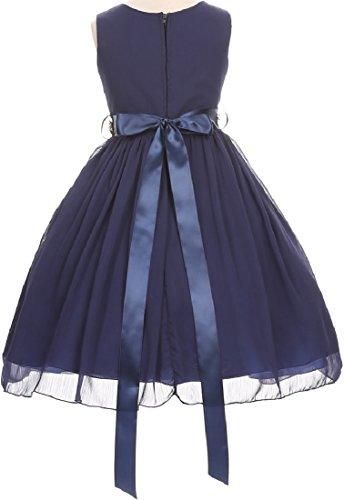 Buy silver flower girl dress chiffon