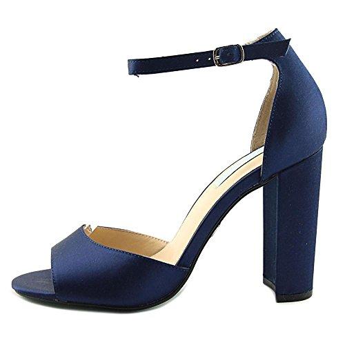 Blu By Betsey Johnson Donna Sandalo Vestito Carinamente Blu Navy Satinato