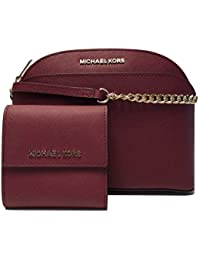 MICHAEL Michael Kors Emmy MD Crossbody bundle with Michael Kors Jet Set Travel SM Card Case Carryall Wallet