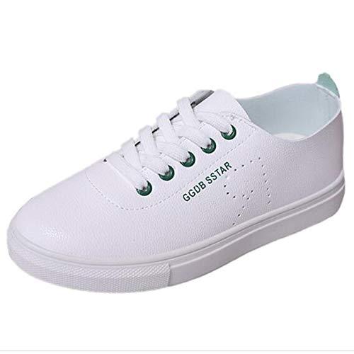 Poliuretano Zapatos Flat Comfort del Primavera PU Mujer Pink Rosa ZHZNVX pie Verano de Heel Verde Cerrado Dedo Negro Sneakers wIqpzx0d