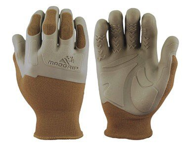 - Mad Grip Pro Palm Knuckler Glove 100,Khaki/Grey,Large/X-Large