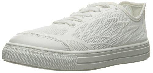 Qupid Women's Reba-106c Fashion Sneaker, White, 7 M US