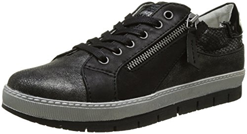 Dockers by Gerli 35ne217-686122, Women's Hi-Top Sneakers, Black (Schwarz/Dunkelgrau 122), 4 UK (37 EU)