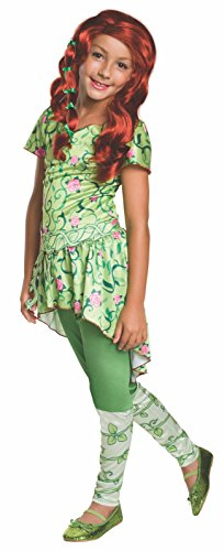 Poison Ivy Fancy Dress Costumes (Rubie's Costume Kids DC Superhero Girls Poison Ivy Costume, Small)