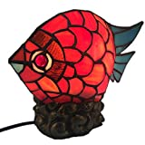 Carl Artbay Tiffany Style Table Lamp Red Goldfish Shape Wedding Decoration Lamp Happiness Meaning Bedroom Lamp 11