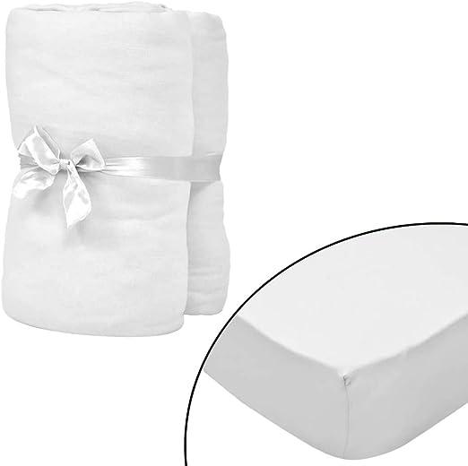 ROMELAREU Sábana Bajera para Cama de Agua 180x200 cm algodón Blanca 2 udsCasa y jardín Ropa de casa Ropa de Cama Sábanas: Amazon.es: Hogar