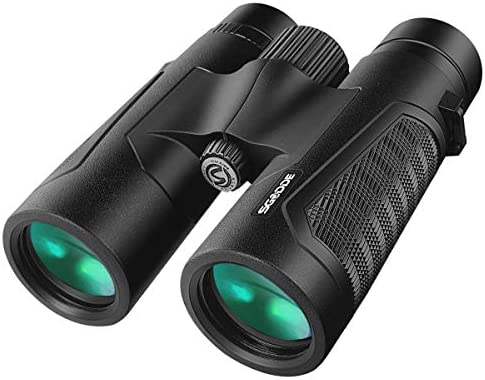 12×42 Powerful Binoculars for Adults, Upgraded Professional HD Compact Binoculars with Clear Weak Night Vision, Lightweight Waterproof Binoculars for Birds Watching, Hunting,Travel with BAK4 FMC Lens