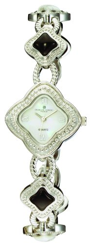 Gemstone Quartz Wrist Watch - Charles-Hubert, Paris Women's 6771-BW Premium Collection Gemstone Watch