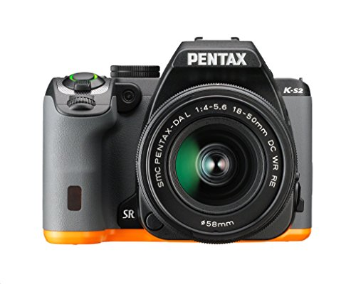 Pentax K-S2 20MP Wi-Fi Enabled Weatherized SLR (Black/Orange)