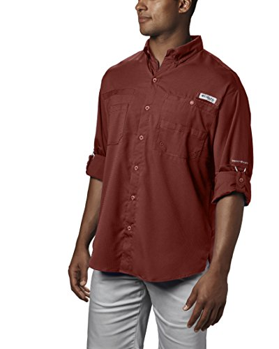 Columbia Men's PFG Tamiami II Long Sleeve Shirt , Rusty, XX-Large by Columbia (Image #4)
