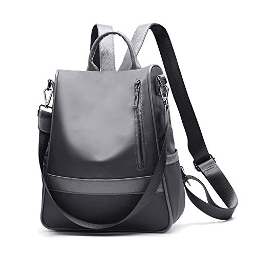 B Shoulder School Bag Backpack Waterproof Women Lightweight Nylon Fashion Purse Canvas Handbag Ladies Gray Style 7avwCaqzx
