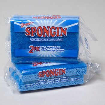 SPONGE SCOURING 2PK ALL PURPOSE IN FLOOR DISPLAY, Case Pack of 90 by DollarItemDirect