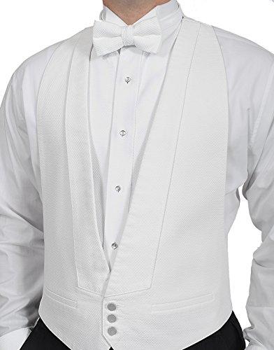 Pique Backless Vest with Pique Shirt & Pique Bow Tie Set - Pique Tuxedo Shirts