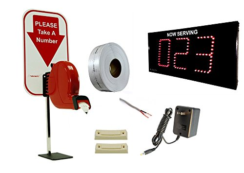 "Take-A-Number System 3-digit Display with 5"" High Digits w/ Ticket Dispenser"