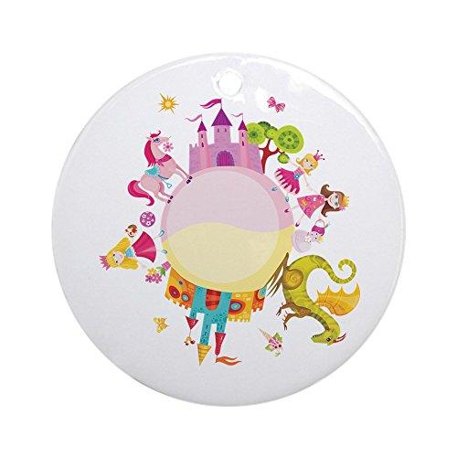Ornament (Round) Princess Prince Dragon Kingdom