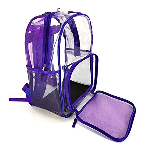 (Pet Carrier Backpack,Pet Clear Carrier Backpack,Adjustable Transparent Pet Backpack Carrier Travel Bag for Small Animals, Designed for Walking, Outdoor Use,Purple)