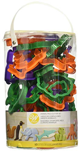 Wilton Animal Cookie Cutter Set, 50-Piece