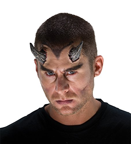 Realistic Demon Costume (68905 Demon Horns Gray Devil Monster)