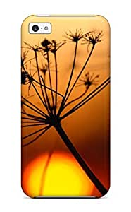 diy phone caseExcellent Design Plant And Sunset Close Up Macro Background Red Sun Nature Other Phone Case For Iphone 5c Premium Tpu Casediy phone case