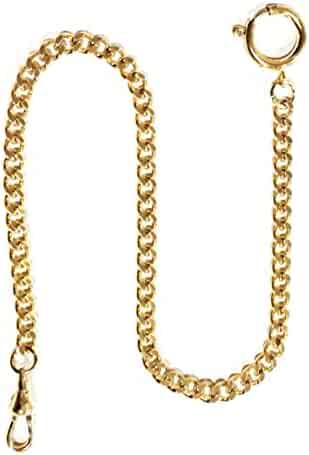 Dueber Gold Plated Steel Deluxe Sport Pocket Watch Chain