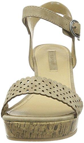 Esprit Gessie Sandal - Sandalias de punta descubierta para mujer Beige - Beige (241 taupe 2)