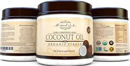 Best Organic Virgin Coconut Oil For Hair Skin & Stretch M...