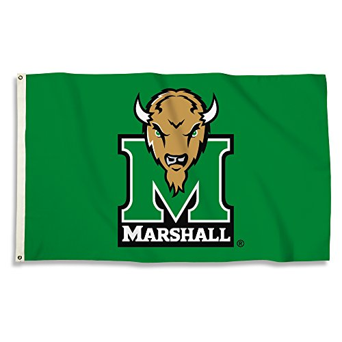 BSI NCAA Marshall Thundering Herd Flag with Grommets, Green, 3' x 5' from BSI