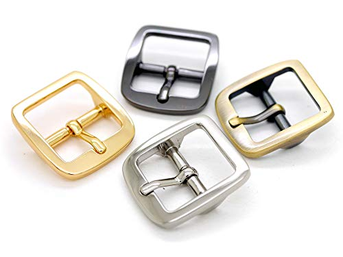 - CRAFTMEmore Single Prong Belt Buckle Square Center Bar Buckles Purse Making Accessories Fits 3/4 Inch Strap (4 Pack, Silver)