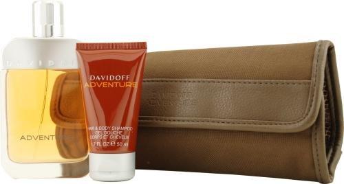 Davidoff Adventure by Davidoff for Men. Set-Eau De Toilette Spray 3.4-Ounces & Hair And Body Wash 1.7-Ounces & Toiletry Pouch